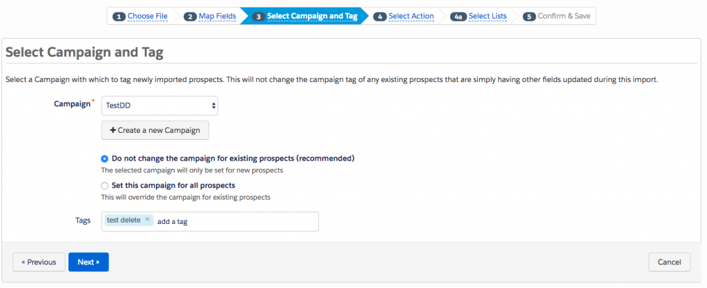 Step 3 - File Import - How to bulk delete Pardot Prospects - getawayposts.com