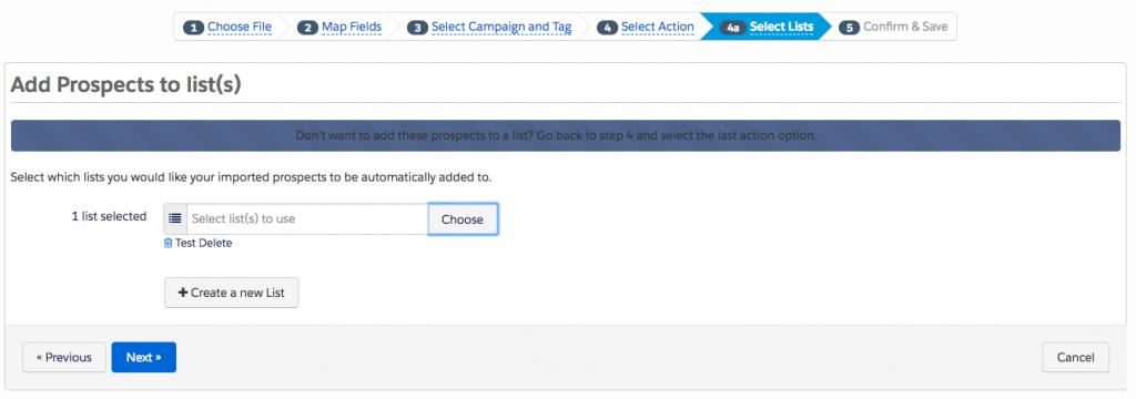 Step 4a - File Import - How to bulk delete Pardot Prospects - getawayposts.com